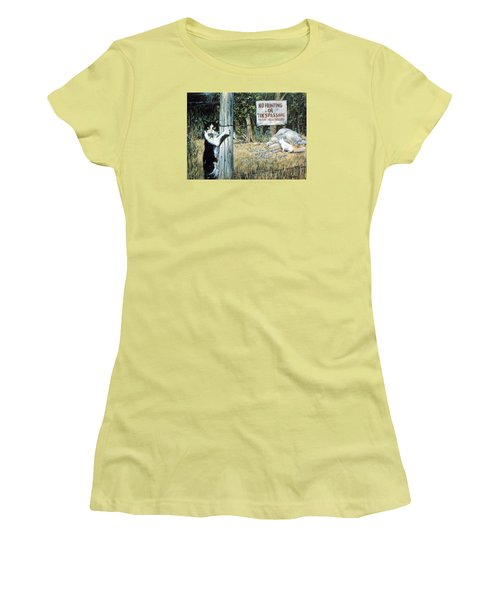 Women's T-Shirt (Junior Cut) featuring the painting More Civil Disobedience by Donna Tucker