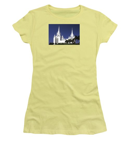 Mormon Temple Women's T-Shirt (Athletic Fit)
