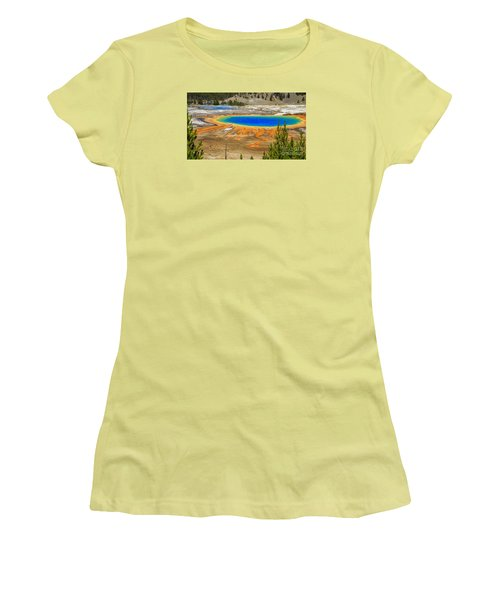 Grand Prismatic Geyser Yellowstone National Park Women's T-Shirt (Athletic Fit)