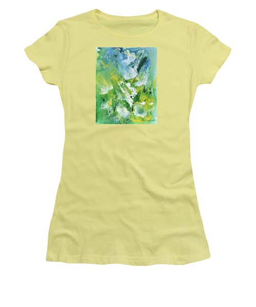 Women's T-Shirt (Junior Cut) featuring the painting Morning Hillside by Craig T Burgwardt