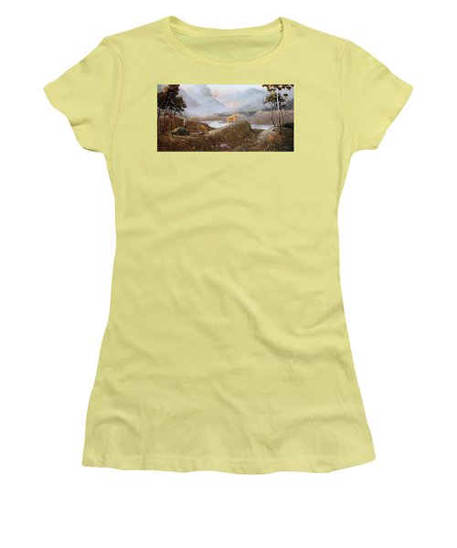 Morning Mist Women's T-Shirt (Athletic Fit)