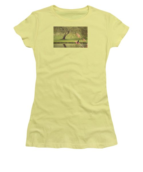 Women's T-Shirt (Junior Cut) featuring the photograph Morning Mood by Rima Biswas