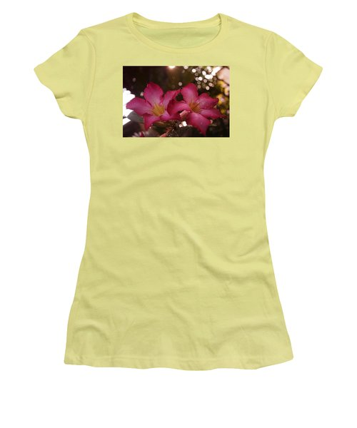 Morning Sunshine And Rain Women's T-Shirt (Junior Cut) by Miguel Winterpacht