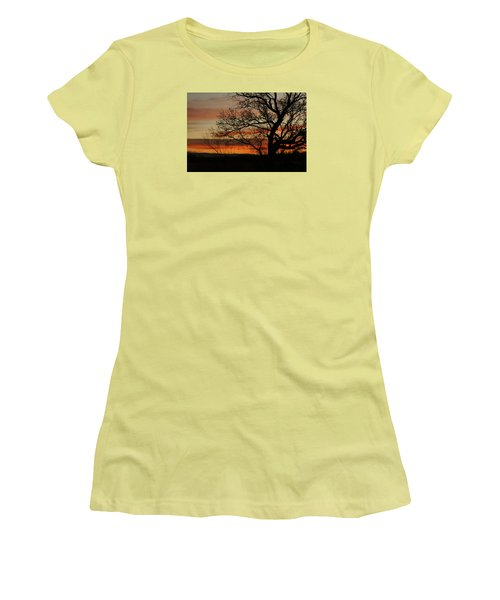 Morning View In Bosque Women's T-Shirt (Junior Cut) by James Gay