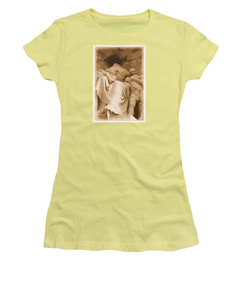 Women's T-Shirt (Junior Cut) featuring the photograph Mother With Children by Nadalyn Larsen