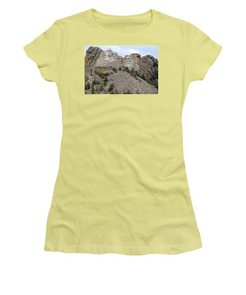 Mount Rushmore In South Dakota Women's T-Shirt (Athletic Fit)