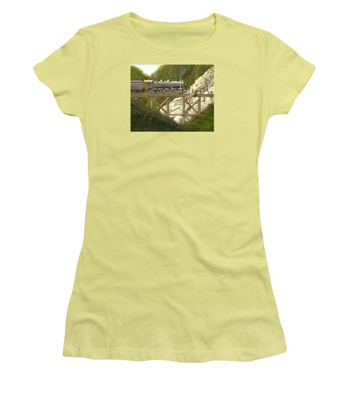 Women's T-Shirt (Junior Cut) featuring the painting Mountain Impasse by Gary Giacomelli