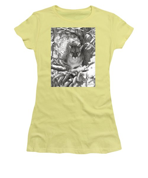 Mountain Lion Hideout Women's T-Shirt (Junior Cut)