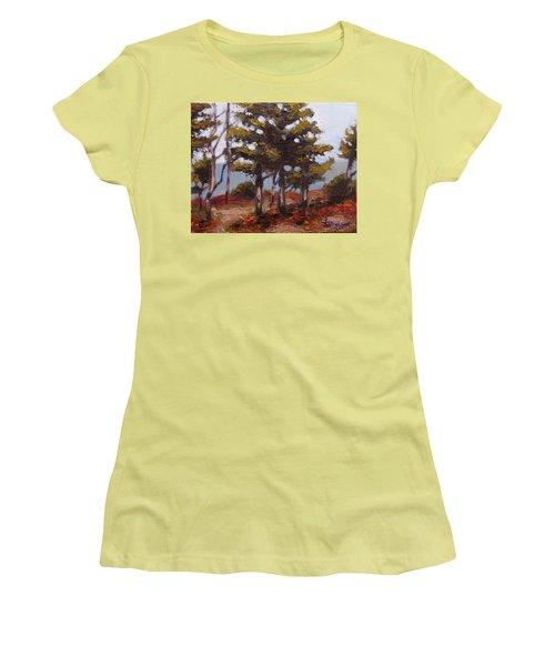 Mountain Top Pines Women's T-Shirt (Junior Cut) by Jason Williamson