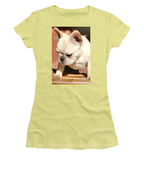 French Bulldog Ms Quiggly  Women's T-Shirt (Athletic Fit)