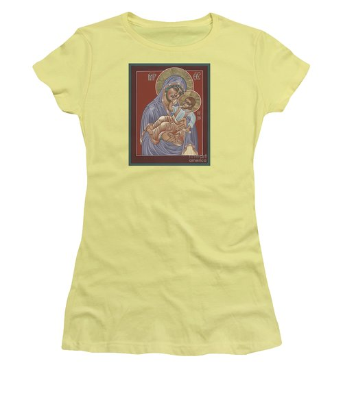 Women's T-Shirt (Junior Cut) featuring the painting Murom Icon Of The Mother Of God 230 by William Hart McNichols