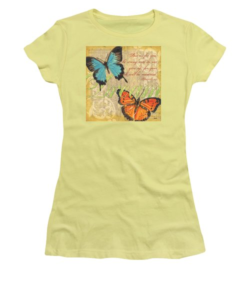 Musical Butterflies 1 Women's T-Shirt (Athletic Fit)
