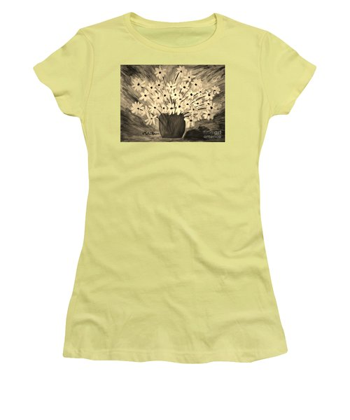 My Daisies Sepia Version Women's T-Shirt (Junior Cut) by Ramona Matei