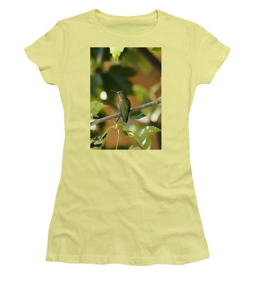 My Green Colored Hummingbird 4 Women's T-Shirt (Athletic Fit)