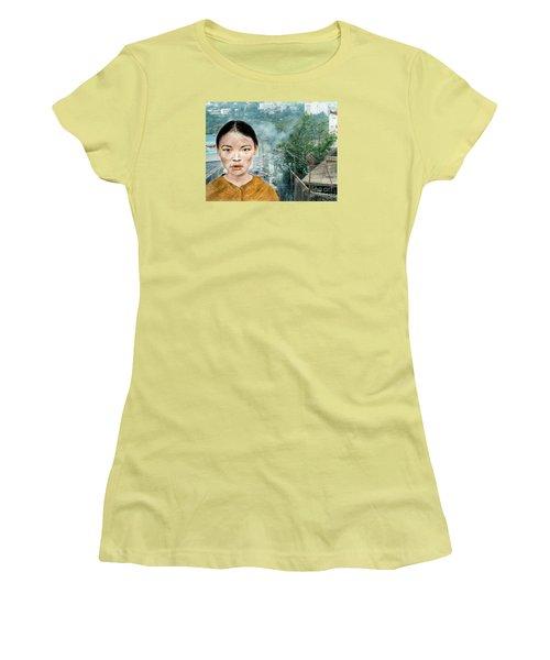 My Kuiama A Young Vietnamese Girl Version II Women's T-Shirt (Junior Cut) by Jim Fitzpatrick