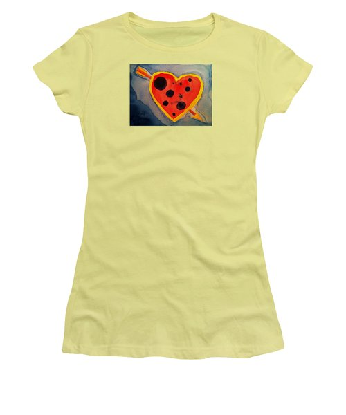 Women's T-Shirt (Junior Cut) featuring the painting Imperfect Love by Rand Swift