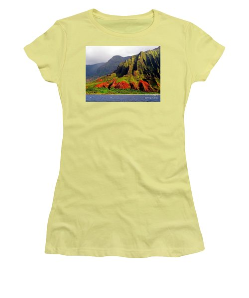 Napali Coast II Women's T-Shirt (Athletic Fit)
