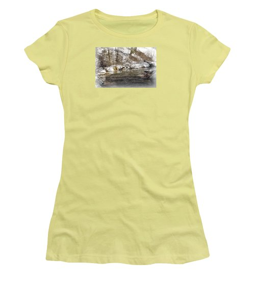 Women's T-Shirt (Junior Cut) featuring the photograph Nature's Direction by Janie Johnson