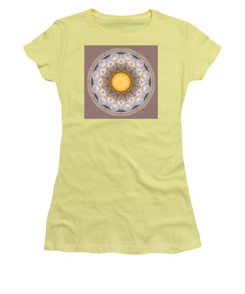 Women's T-Shirt (Junior Cut) featuring the photograph Neutral Kaleidoscope Square by Betty Denise
