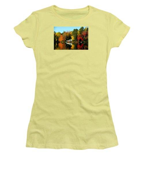 New England Women's T-Shirt (Junior Cut) by Bill Howard