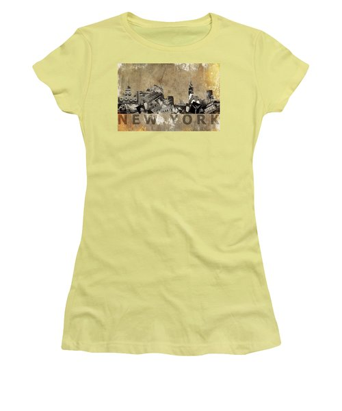 New York City Grunge Women's T-Shirt (Junior Cut) by Suzanne Powers