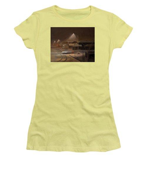 Night Drive Women's T-Shirt (Junior Cut) by Thu Nguyen