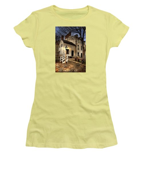 Women's T-Shirt (Junior Cut) featuring the digital art Night Watchman by Mary Almond