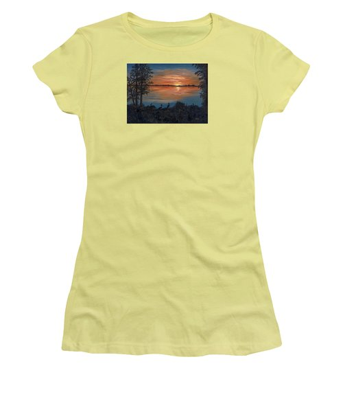Nightfall At Loxahatchee Women's T-Shirt (Athletic Fit)