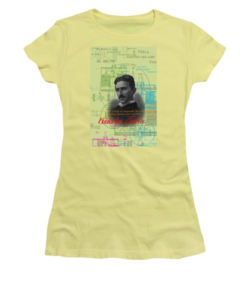 Nikola Tesla #3 Women's T-Shirt (Athletic Fit)
