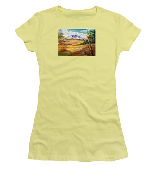 Nipa Hut 2  Women's T-Shirt (Junior Cut) by Remegio Onia