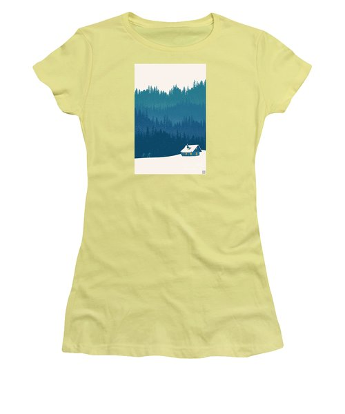 Nordic Ski Scene Women's T-Shirt (Athletic Fit)