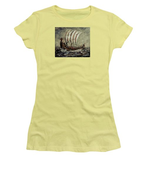 Norse Explorers Women's T-Shirt (Junior Cut) by Arturas Slapsys