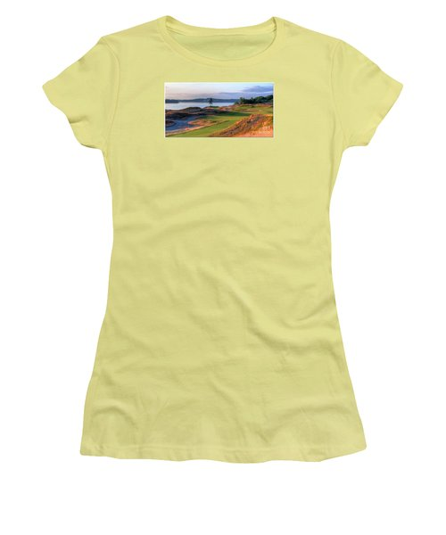 Women's T-Shirt (Junior Cut) featuring the photograph North By Northwest - Chambers Bay Golf Course by Chris Anderson