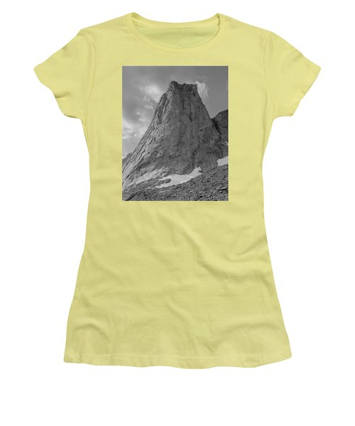 109649-bw-north Face Pingora Peak, Wind Rivers Women's T-Shirt (Athletic Fit)