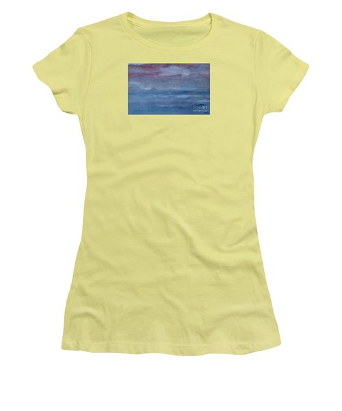 Women's T-Shirt (Junior Cut) featuring the photograph Northern Evening by Susan  Dimitrakopoulos