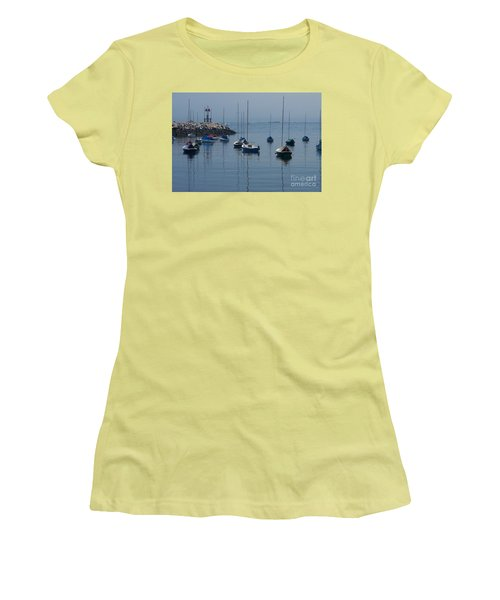 Women's T-Shirt (Junior Cut) featuring the photograph Sail Boats  by Eunice Miller
