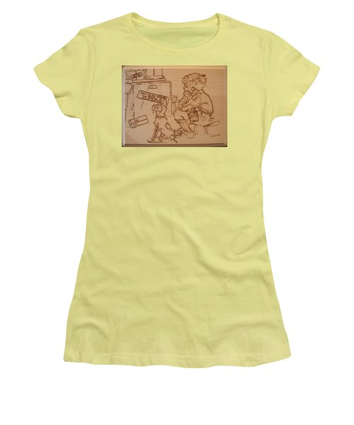 Not To Be Opened Until Christmas Women's T-Shirt (Junior Cut) by Sean Connolly