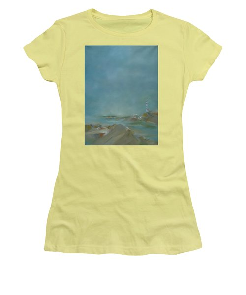 Nova Scotia Fog Women's T-Shirt (Junior Cut) by Judith Rhue