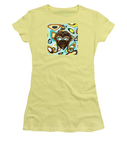 Nubian Modern  Mask Women's T-Shirt (Junior Cut) by Joseph Sonday