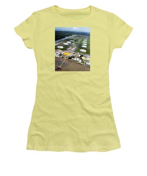 Oil Tank Farms  Women's T-Shirt (Athletic Fit)
