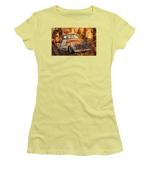 Old Chevy Rust Women's T-Shirt (Junior Cut) by Steve McKinzie