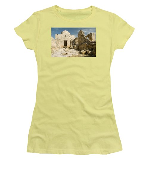 Old Church Anogyra  Women's T-Shirt (Junior Cut) by Jeremy Voisey