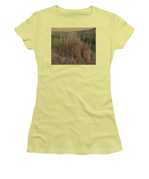 Old Fence Line Women's T-Shirt (Junior Cut) by Donald S Hall