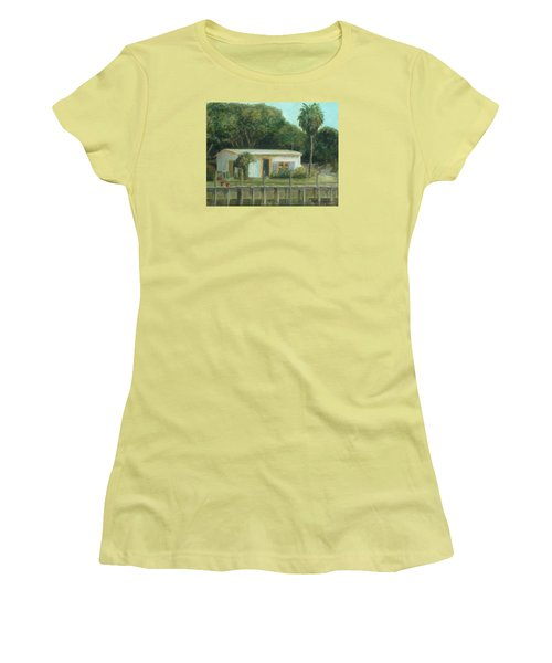 Old Florida Fish Camp And Marina Women's T-Shirt (Athletic Fit)