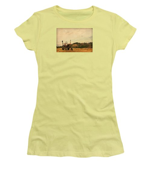 Women's T-Shirt (Junior Cut) featuring the photograph Old Red by Joan Davis