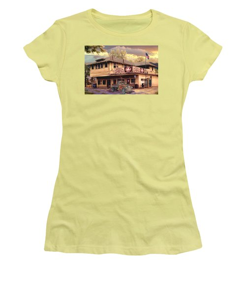 Old Town Irvine Country Store Women's T-Shirt (Junior Cut) by Ron Chambers