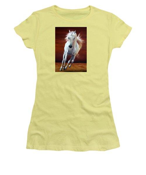 On Fire Women's T-Shirt (Junior Cut) by Vivien Rhyan