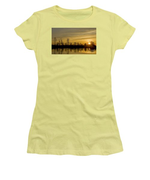On Golden Pond Women's T-Shirt (Junior Cut) by Nick  Boren