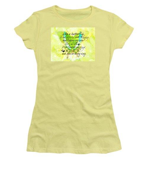 On My Way Women's T-Shirt (Junior Cut) by Tina  LeCour