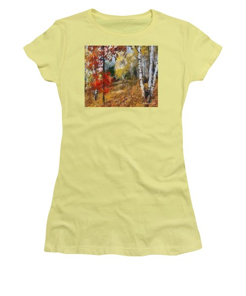 On The Edge Of The Forest Women's T-Shirt (Athletic Fit)